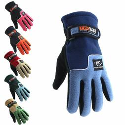 Winter Thermal Warm Polar Fleece Gloves for MTB Road Bike Cy