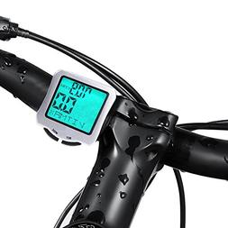 Bike Computer for Cycling, 1 Pcs Waterproof Bicycle Wired Sp