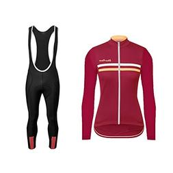Uglyfrog Women Thermal Fleece Cycling Jersey Suits Winter Lo