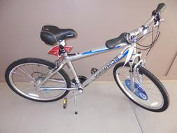 "WOMENS SCHWINN 26"" GRAY/BLUE 21 SPEED HYBRID SUBURBAN BIKE -"