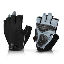 OZERO Weight Lifting Gloves Extra Grip Thick Leather Palm an