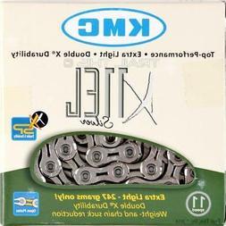 KMC X11EL Silver 11-Speed Road Bike Chain 118L Extra Light 2