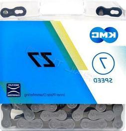 """KMC Z7/Z50 5/6/7-Speed Bicycle Chain 116L 1/2"""" x 3/32"""" Road"""