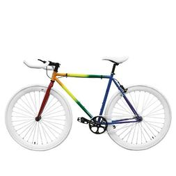 Zycle Fix ZF-PRDE-48 Pride Fixed Gear Bike, 48cm/One Size Fr